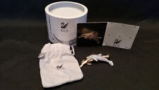 Swarovski Collector Society Dolphins Pin / Brooch Bnib W Coa And Pouch