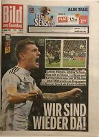 BILD am Sonntag 24.06.2018 - DEUTSCHLAND - SCHWEDEN 2:1 - WM 2018 - 2. Spiel
