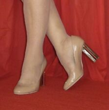 $930 Louis Vuitton Nude Night Bloom Patent Leather Pumps 38 7 SOLD