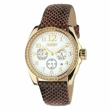 Authentic ESPRIT Ladies Watch Fashion Confdence GOLD + Free Esprit Bag