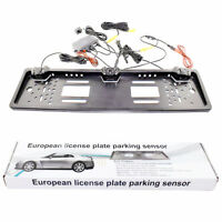 European EU License Plate Frame Car Reverse Parking Rearview System Camera