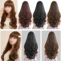 Womens Ladies long Wavy Fancy Hair Wig Natural Curly Straight Hair Wig Pretty