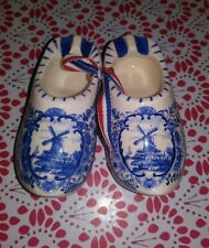 Holland Delftblue Shoes Porcelain Collectible Blue White Handmade in Holland Ms
