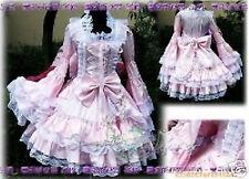 Gothic Lolita Fancy Dress Cosplay Costume Black Pink Handmade