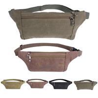 Men Canvas Fanny Waist Pack Belt Hip Bum Military Tactical Running Bag Belt