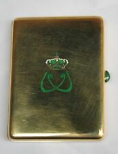 KING FAROUQ 18K GOLD FRENCH ENAMELED BOUCHERON CIGARETTE BOX (MUST SEE)