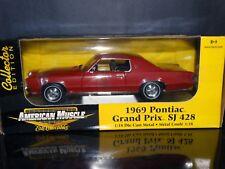 ERTL American Muscle 1969 Pontiac Grand Prix SJ 428 1:18 Scale Diecast Model Car