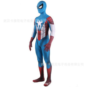 Spider-Man Captain America Jumpsuit Spiderman Cosplay Costume For Adult & Kids