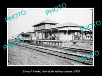 OLD LARGE HISTORIC PHOTO OF CRESSY VICTORIA, THE RAILWAY STATION 1920