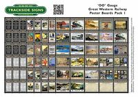 Great Western Railway GWR - Uncut Railway Poster board Sheets (A5) OO Gauge 4mm