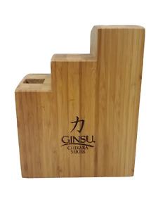 Ginsu Chikara Series 7 Slot Bamboo Knife Block Only No Knives
