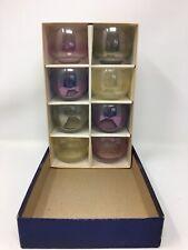 Vtg Federal Glass Rainbow Roly Poly Tumblers Mid Century Mod Dorothy Thorpe Era