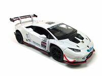 "Kinsmart 5"" Lamborghini Huracan LP620-2 Super Trofeo Diecast Model 1:36 White"