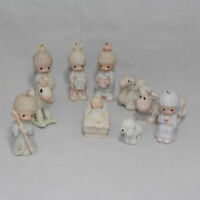 Precious Moments 1980 Nativity 10 Piece Ornament Set  no box
