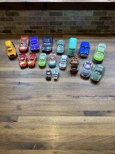 Disney Pixar Cars Diecast Plastic & Metal Mixed Lot of 18