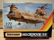 Matchbox 1/72 Chinook, Boeing Vertol, HC Mk.1 vintage Helicopter model kit.