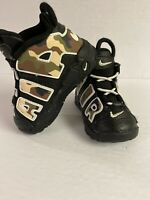 Nike Air More Uptempo QS Camo Black White CJ0932-001 Toddler Size 5C