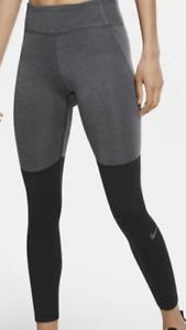 Nike Warm Tights Womens Ladies Grey Black Size 14 L *REF70