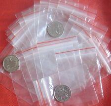 100   Buste Bustine Sacchetti di Plastica Trasparenti 4 x 6 chiusura a ZIP