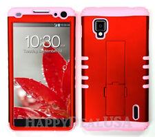 KoolKase Hybrid Silicone Cover Case for AT&T LG Optimus G E970 - Orange (R)