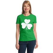 Shamrock vintage Women's T-shirt funny drinking St. Patrick's Day tee