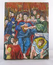 Superman Art - Based on El Greco - Original Oil Painting on Canvas