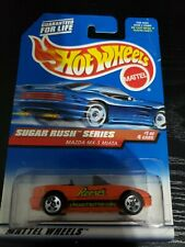 1998 Hot Wheels #741 Sugar Rush Series-Reese's 1/4 MAZDA MX-5 MIATA Orange w/5Sp