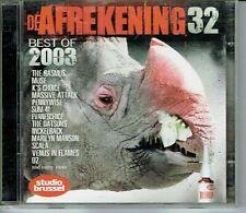 CD : De Afrekening 32 - Studio Brussel (2 cd box)