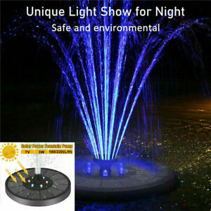 LED Solar Panel Powered Water Feature Pump Garden Pool Pond Aquarium Fountain UK
