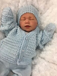 REBORN BOY DOLL KNITTED SPANISH OUT FIT E113 - BUTTERFLY BABIES