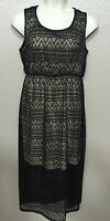 Style&Co Women's Plus Sz 1X NEW Black Illusion Scoop Neck Sleeveless Maxi Dress