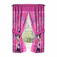 Disney Minnie Mouse Window Panels Curtains Drapes Pink Bow-tique, 42'' x 63''