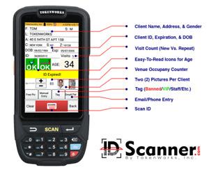 IDVisor Smart Handheld ID Scanner +   Charging Cradle