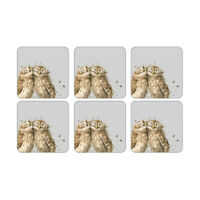 Wrendale Set of 6 Owl Coasters