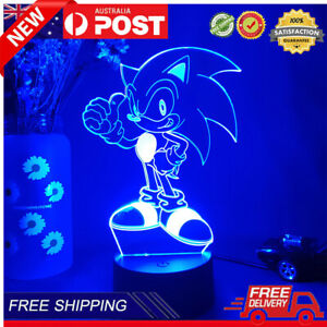 3D Acrylic LED Sonic the Hedgehog 7Colours Night Light Touch USB Kids Gifts Lamp