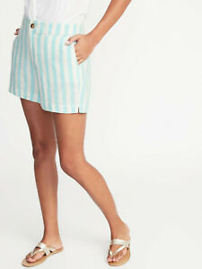 """Old Navy Linen Blend Striped 5"""" Shorts  NWT"""