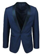 Giacca uomo Sartoriale blu scuro navy collo raso slim fit blazer elegante