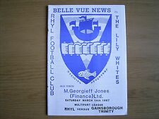 RHYL v GAINSBOROUGH TRINITY Northern Premier League 1986-87