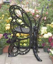Outdoor Butterfly Chair Cast Aluminum Rust-free Metal Patio Black Garden Sturdy