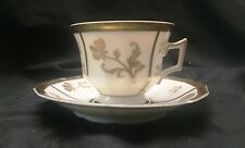 Vintage Circa 1925 Footed Tea Cup and Saucer GD and CIE AVENIR Limoges France