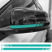 x2 Limited Edition Petronas Green Mercedes Benz AMG Wing Mirror Decals