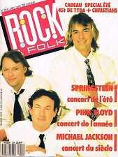 Rock & Folk  N°254   Juillet Aout 88:Pink floyd Springsteen Michael jackson