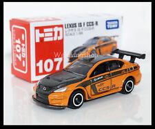 TOMICA #107 LEXUS TOYOTA IS F CCS-R 1/66 TOMY 2012 DECEMBER NEW MODEL DIECAST