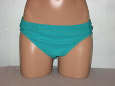 UK Style French Connection Bikini Swimsuit Bottoms Green Side Tab X-Large 16 NWT