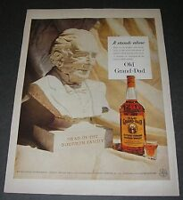 Print Ad DISTILLERY 1956 Old Grand-Dad Whiskey Bust Head of the Bourbon Family