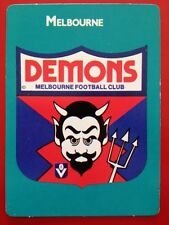 1988 Scanlens Stimorol VFL Trading Card 41 Club Emblem Melbourne Demons