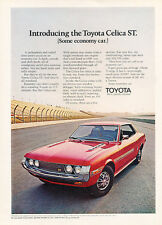 1971 Toyota Celica ST - red - Classic Vintage Car Advertisement Ad J40