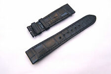 Genuine Jaeger LeCoultre Authentic BLACK Alligator Watch Band Strap, 18MM