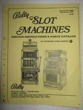 BALLY SLOT MANUAL - models 742A  thru models 962 PDF