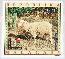 MADAGASCAR MALAGASY 1972 666 C108 Mohair Goat Ziege Wollindustrie Cotton MNH